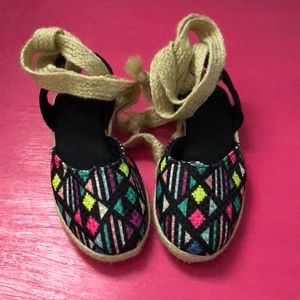 Authentic mexican toddler espadrilles